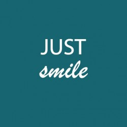 Toile Just smile