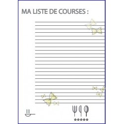 Bloc note Liste de course