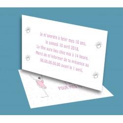 Carte anniversaire Danseuse