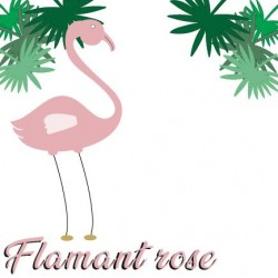 Affiches Premium Flamant Rose
