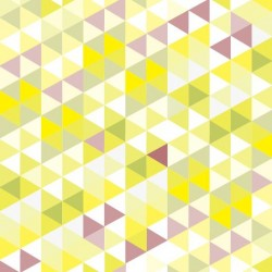 Nappe forme triangulaire jaune